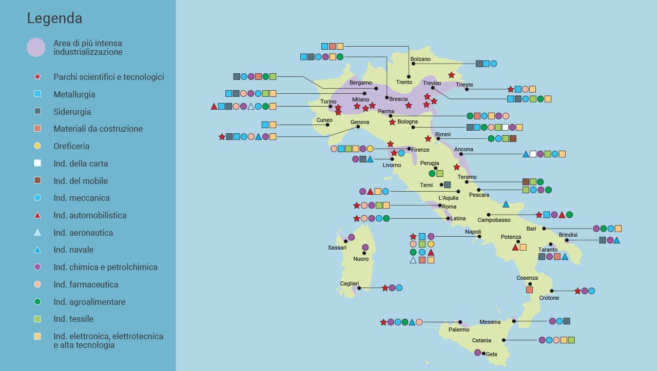 Cartina Italia Economica.Mondadori Education